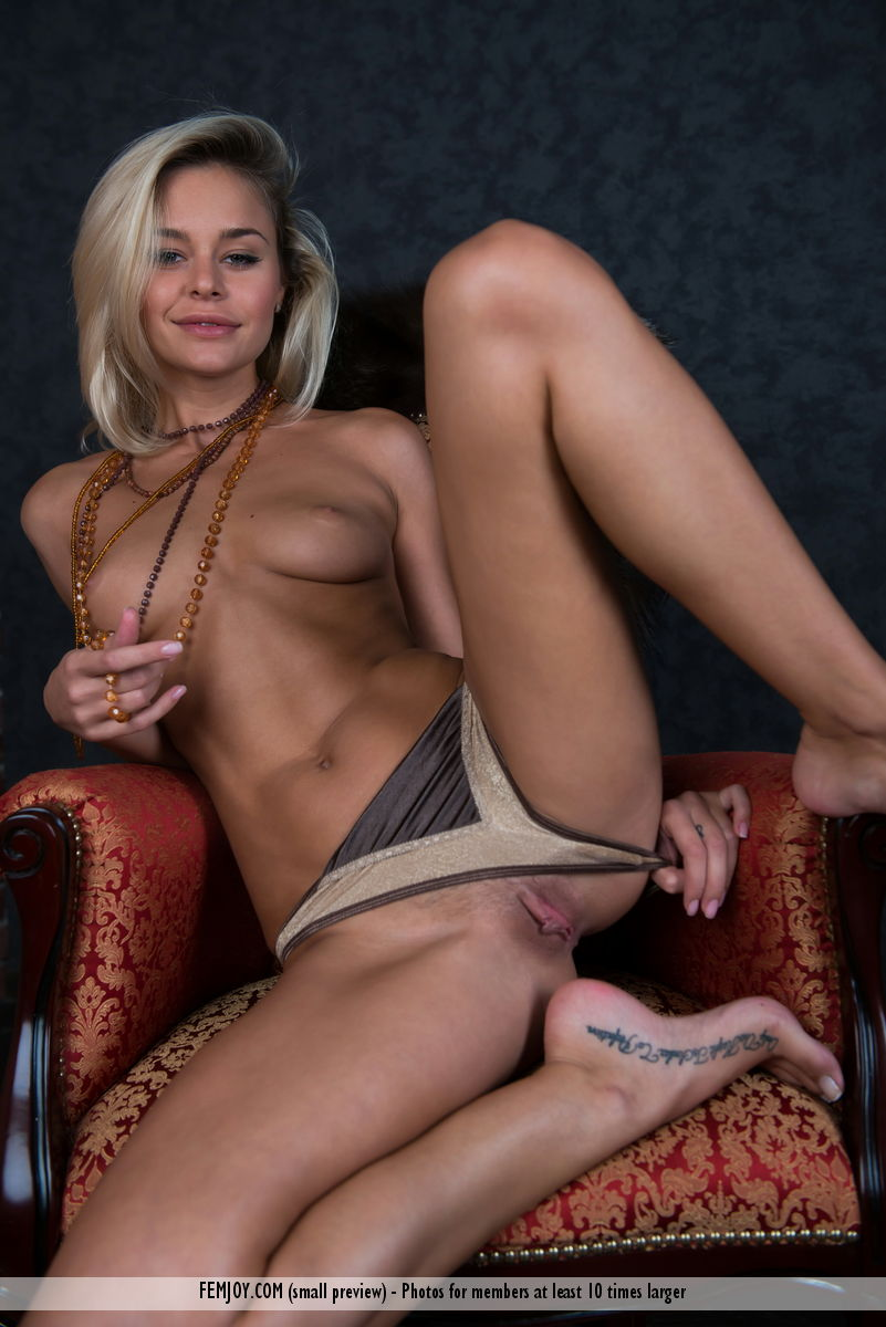 Opinion here naked blonde bitch posing