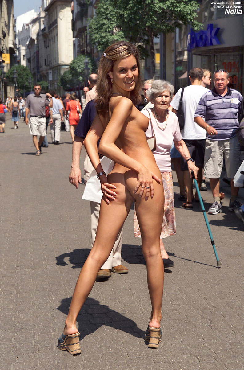 Right! Sexy babe naked on the street perhaps shall